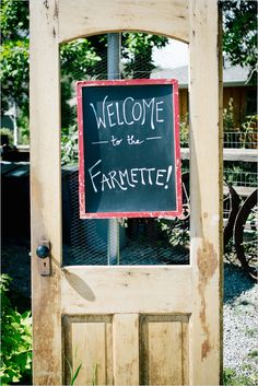 Farmette wedding venue sign to welcome guests. Captured By: Emily Elizabeth Photo ---> http://www.weddingchicks.com/2014/05/30/wild-and-free-bohemian-wedding/