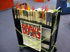 Burning Banned Books #bannedbooks #bannedbooksweek