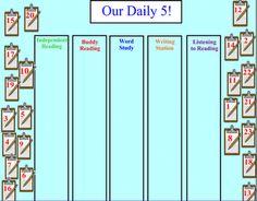 make a daily five choice board for Promethean