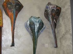 frond art, elephants, craftspalm frond, coconut art, craft idea, frond eleph, palms, style blog, artist inspir