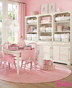 Pink playroom.
