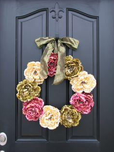 wreaths | Front Door Wreaths, Traditional Wreaths, Spring Wreaths, Peony Wreaths ...