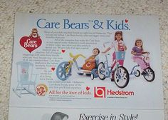 1984 vintage ad -Care Bears kids Girl Boy Bike Hedstrom- PRINT AD Advertisement #Advertisement