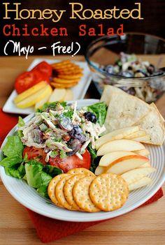 Honey Roasted Chicken Salad (Mayo Free!)
