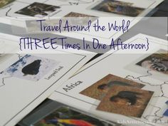 Travel Around the World {3 Times In One Day} - Fun and easy activities for preschoolers!
