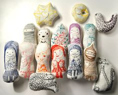 Family and Friends, set of 15 Dolls