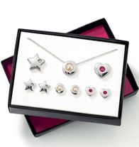 Simply Divine 6-Piece Set- Silvertone, faux pearls and rhinestones, 3 interchangeable pendants and chain, 3 pairs pierced studs.  Regularly $16.99, buy Avon Jewelry online at http://eseagren.avonrepresentative.com