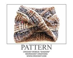Ravelry: Crochet Mobius SHADOW pattern by Barbara Summers £2.50 GBP about $4.25