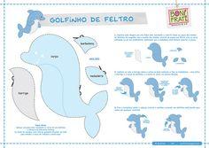 Dolphin - Golfinho de Feltro (Molde e PAP) by BoniFrati ® bonifrati.com.br, via Flickr