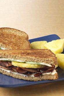 Hawaiian Grilled Ham & Cheese with Chiquita Pineapple