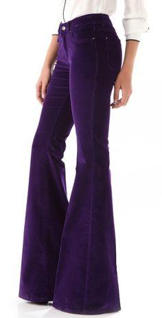 Rachel Zoe, Rachel Purple Corduroy Flare Pants
