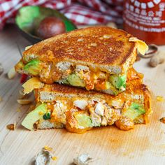 Spicy Peanut Chicken Grilled Cheese Sandwich (aka The Chicken Satay Melt) #foodgawker
