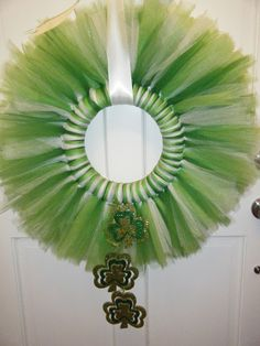 St. Patrick's tulle wreath (St. Paddy's Day)