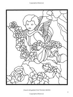 Angels and Cherubs Stained Glass Pattern Book (Dover Stained Glass Instruction): Connie Clough Eaton: 9780486401706: Amazon.com: Books