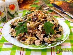 Салат белая ночь с черносливом рецепт