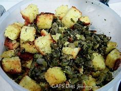 Coconut Bread Stuffing, courtesy of Sarah Schatz from Heart of Cooking. Delicious!!