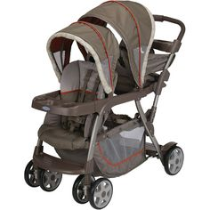 Graco - Ready2Grow Stand and Ride Double Stroller, Forecaster