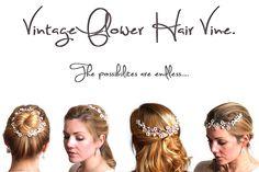 Wedding Hair, versatile vintage style hair accessories at www.lolaandi.com