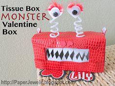 valentine crafts, valentine box, monster, valentine day, valentin box, tissue boxes, crafti gem, valentine gifts, kid