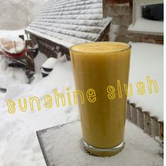 Sunshine Slush Smoothie ~vegan, raw~ coconut oil for thirsty skin!