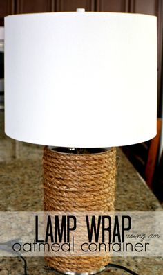 DIY lamp made with oatmeal container