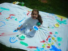 leisha, lawns, kid idea, outdoor fun, kid activ, kid stuff, kid craft, art camp