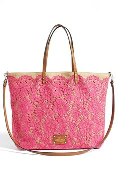 Gorgeous reversible Valentino lace tote - 30% off - two bags for the price of one! http://rstyle.me/n/jmrernyg6