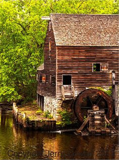 Old Water Wheel At Philipsburg Manor Mill by PhotosbyJerryCowart, $29.50