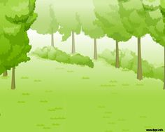Free Green Forest PowerPoint template background with forest PPT template slide design