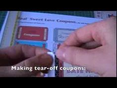 How To Make Tear-Off Love Coupon Booklet video instructions; Free Printable Love Coupons