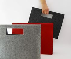 Felt handbag--could try fusing two pieces of regular wool felt together to give strength of industrial.