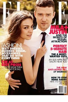Elle US August 2011 - Mila Kunis & Justin Timberlake