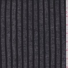 *3/4 YD PC--Black Stripe Gauze - 29771-C1 - Fabric By The Yard At Discount Prices