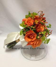 Orange & green bouquet