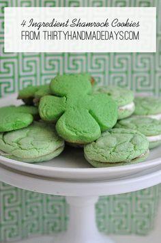 4-ingredient Shamrock Cookies
