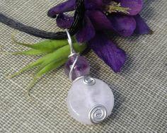 Rose Quartz and Amethyst Sterling Silver by nicholasandfelice, $9.50
