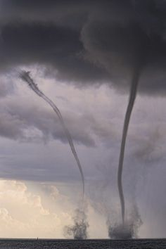 Double Waterspouts, Honolulu, Hawaii