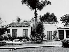 Purchased just months before her death, Monroe's Brentwood, Calif., hacienda, the house where she died.