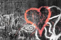 'graffiti heart' photograph placed on canvas. #graffiti