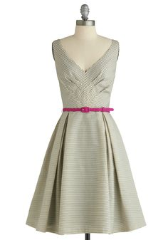 ADORABLE, love the little belt and pleats