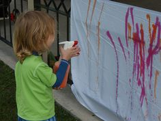 Make water bottle art and other Creative Summer Activities for Kids at Home - MyNaturalFamily.com #activities #summer