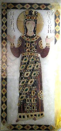 icon, byzantium, eudocia, eastern roman, aelia