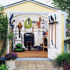 Storage Shed cafe interiors, garden tools, yard, storage sheds, shed storage, garage shelving, gardens, outdoor sheds, modern garden
