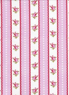 Valentine Rose by Tanya Whelan For Free Spirit  Pink Ticking PWTW080-Pink