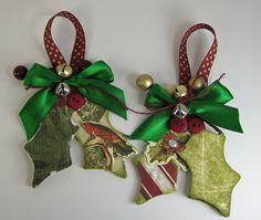 Handmade Holly Ornaments