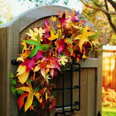 Learn how to make a swag for your garden gate!