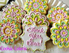 Thank You Cookies Decorated Sugar Cookies One by CookieCoterie, $28.00