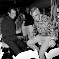 Point Blank (1967) Wrap Party: Warren Oates and Lee Marvin