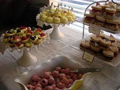 Tasty treats on fancy platters!