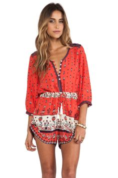 Spell & The Gypsy Collective Desert Wanderer Playsuit in Sunset from REVOLVEclothing